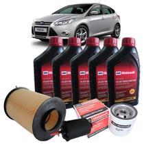 Kit revisão Ford troca de óleo Motorcraft 5W30 e filtros - Novo Focus 2.0 Duratec - Italia Ricambi -