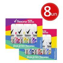 Kit Rexona Desodorante Aerosol Now United Day e Summer 53 ml- 8 Unidades -