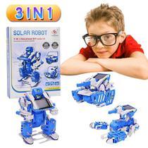 Kit Robo Solar 3 Em 1 Transformers Brinquedo De Montar Tanque Caminhao Escorpiao Educativo Robotica - Makeda