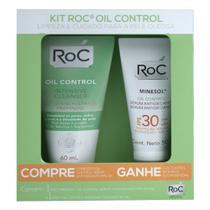 Kit Roc - Oil Control Antioxidante Sérum FPS30 + Oil Control Intensive Cleanser -