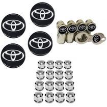Kit Roda Calota Toyota Corolla Etios Yaris + Emblema Resinado + Tampa Ventil + Capa Parafuso - Emblema / tampa ventil / capa parafuso