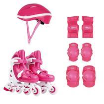 Kit Roller Com Acessórios De Segurança 34 Ao 37 Rosa 40600103 Mor -