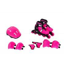 Kit roller com equipamentos rosa/azul tam. M - Bel Sports -