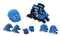Kit Roller In-Line Completo Patins Radical Azul G (37-40) - Bel sports