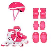 Kit Roller Infantil Rosa M Numeração 34-37 MOR -