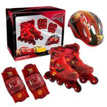 Kit roller patins infantil carros disney tamanho p dtc -