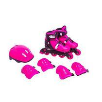 Kit Roller Radical 4 itens Rosa Bel Sports -