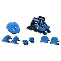 Kit Rollers Radical Ajustável Azul (G 36-39) - Bel Sports