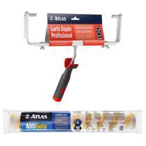 Kit Rolo Anti Gota Big 46cm + Garfo Duplo Profissional - Atlas
