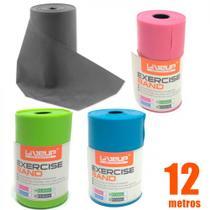Kit Rolo de Faixa Elastica 12m Tensao Extra Forte + Forte + Media + Leve Liveup -