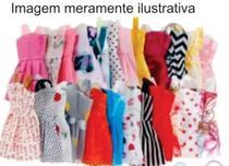 Kit Roupa Boneca Barbie 10 Peças em Tecido - Gleype Jn