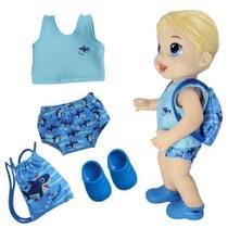 Kit Roupa de Boneca para Baby Alive Boy - Praia Sunga Shark - Laço De Fita