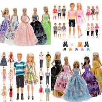 Kit Roupas, Sapatos e Vestidos para Barbie e Boneco Ken - Sheilinha