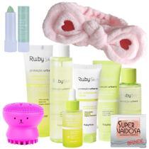 Kit Ruby Skin Proteção Urbana Ruby Rose c/ Esponja Facial -