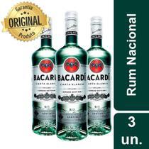 Kit Rum Carta Blanca 980ml - 3 garrafas - Bacardi