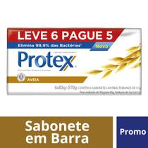 Kit Sabonete em Barra Protex Aveia 85g Leve 6 Pague 5 -