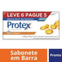 Kit Sabonete em Barra Protex Vitamina E 85g Leve 6 Pague 5 -