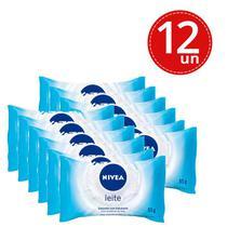 Kit Sabonete Hidratante Nivea Proteína Do Leite 85g - 12 Unidades - Nívea