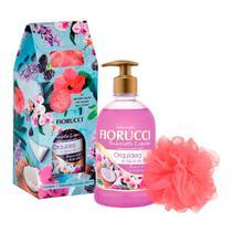 Kit Sabonete Líquido Fiorucci Orquídea 500ml + Esponja Banho -