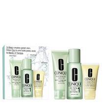 Kit Sabonete Liquido + Loção Clareadora 1 + Loção Hidratante Clinique Intro System Skin Tipo 1 -