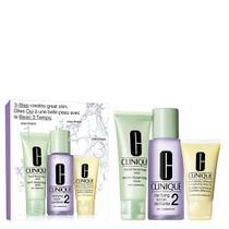 Kit Sabonete Liquido + Loção Clareadora 2 + Loção Hidratante Clinique Intro System Skin Tipo 2 -