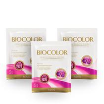 Kit Sachê Descolorante Biocolor Proteína e Queratina 50g 3 Unidades -