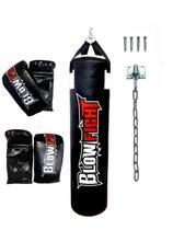 Kit Saco de Pancada 1,20 Cm + 2 Pares Bate Saco + Suporte - Blow Fight