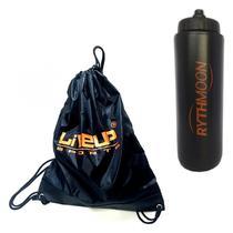 Kit Sacola GymSack Sports Bag Liveup Laranja + Squeeze Automático 1lt - Rythmoon