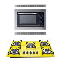 Kit Safanelli Forno De Embutir 45l + Cooktop 5q Amarelo -