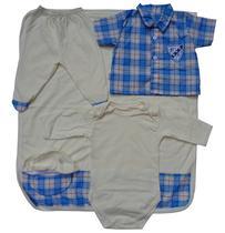 Kit Saída De Maternidade Bebê Menino 5 Peças - Bambino