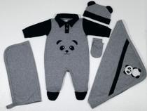 Kit Saída de Maternidade Panda em Várias Cores Perfeita - Barros Baby -