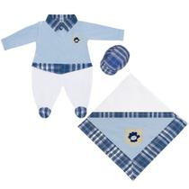 Kit Saída Maternidade 3 peças Baseball Azul - I9 Baby
