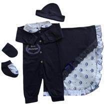 Kit Saída Maternidade 5 (cinco) peças 100% Algodão Menino - Sonho De Criança