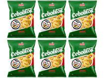 Kit Salgadinho Assado Cebola 60g Cebolitos - 6 Unidades