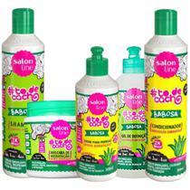 Kit Salon Line Babosa Cachos Tratamento Completo 5-Produtos -