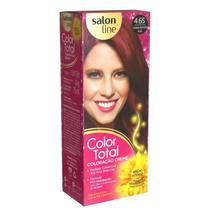 Kit Salon Line Color Total 4.65 Castanho Vermelho Acaju - Coloração Permanente -