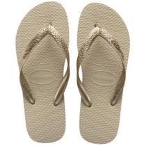 Kit Sandália Havaianas 6 pares Color Mix Bege e Dourado 37/38 -