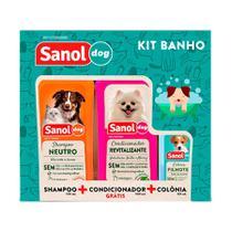 Kit Sanol Dog de Shampoo, Colônia e Condicionador -