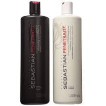 Kit Sebastian Penetraitt Shampoo 1000ml + Condicionador 1000ml - LITRO -