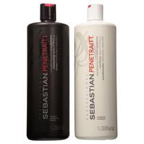 Kit Sebastian Penetraitt - Shampoo 1L + Condicionador 1L -
