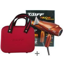 Kit secador de cabelo profissional taiff vulcan kompress 2400w - 220v + maleta taiff -