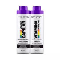 Kit Seduction Shampoo + Condicionador Vitamina Capilar - 1L -