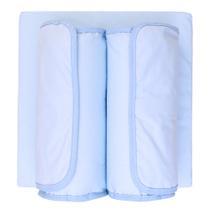 Kit Segura Bebe Narababy 2 peças Rolinho e Anti-Refluxo Azul -