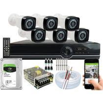 Kit Segurança 6 Câmeras Digitais 1080p 2mp Dvr Full Hd 8 Canais - ethink