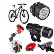 Kit Segurança Bicicleta Lanterna Luz Capacete Trava - Western