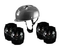 Kit Segurança Proteção Infantil Para Skate Patins Patinete - CP02 PRETO - Lotus