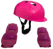 Kit Segurança Proteção Infantil Para Skate Patins Patinete - CP02 ROSA - Lotus
