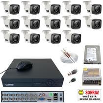 Kit Segurança Residencial 14 Câmeras HD 720p Completo 1 TB Visão Noturna 20 Metros Externo Citrox -