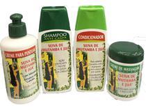 Kit Seiva De Mutamba E Juá - Shampoo Condicionador Creme de Pentear Creme de Massagem -
