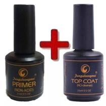 Kit Selante Top Coat Fengshangmei + Primer S/ Acido Unhas - Xd